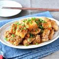 ご飯がすすむ♪ボリューム満点♪ 【チキンと厚揚げの甘酢ごまだれ】#節約#作り置き