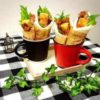 高野豆腐カツと食パンで手巻き寿司風