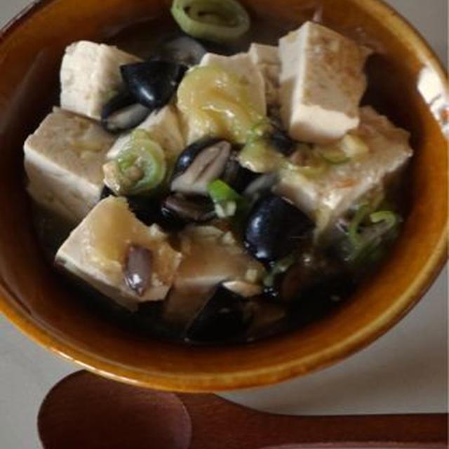 ミニレシピ きざんだ豆とおとうふのトロトロ炒め