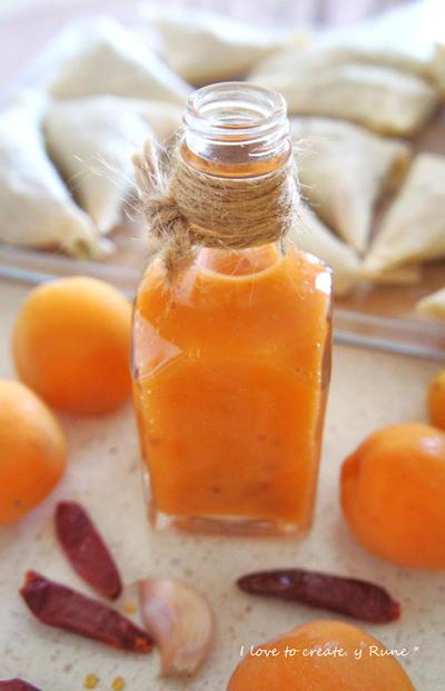 手作り杏ジャムでスイート&チリソース