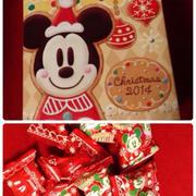 今日のおやつ(*^^*)ミッキーのチョコ