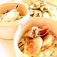 海老となめ茸&コンビーフとキャベツで2種の餃子♡