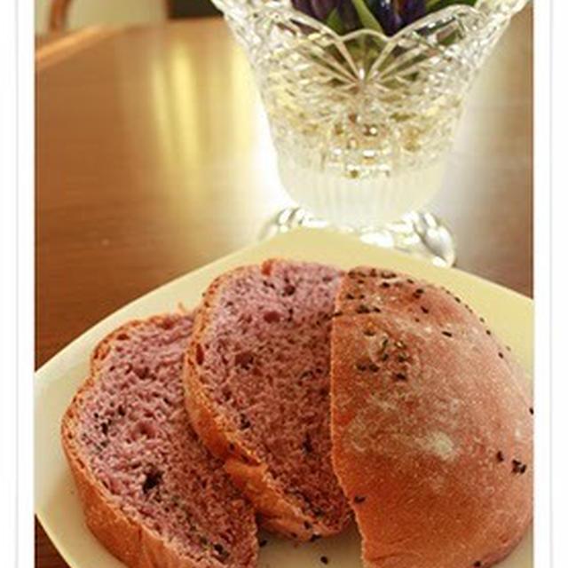 紫芋黒ゴマパン
