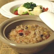 日村さん10kg減1ヶ月間トマトダイエットのトマトリゾットとサラダ