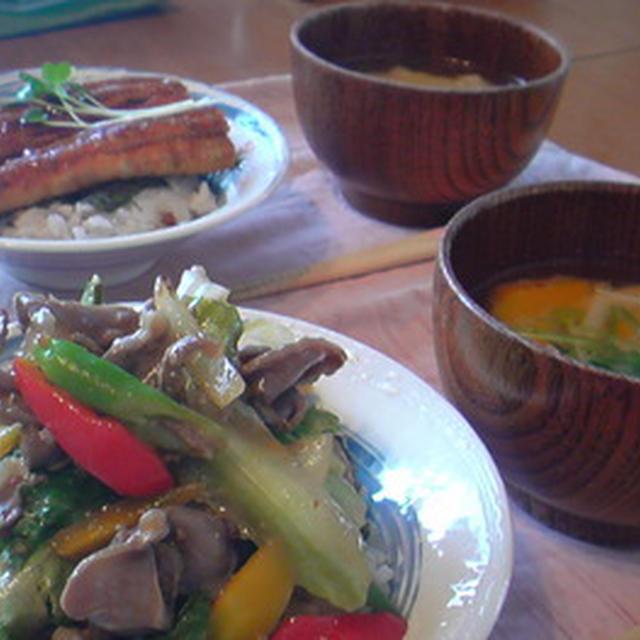 休日丼お昼ごはん。