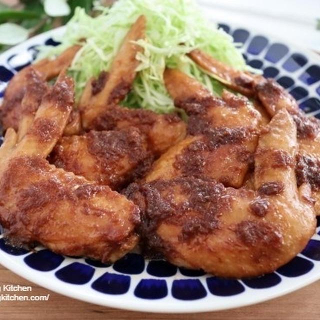 マヨネーズでコク旨♪鶏手羽先の生姜焼き