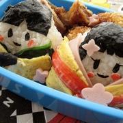 ひな祭りのお弁当(キャラ弁)(幼稚園)
