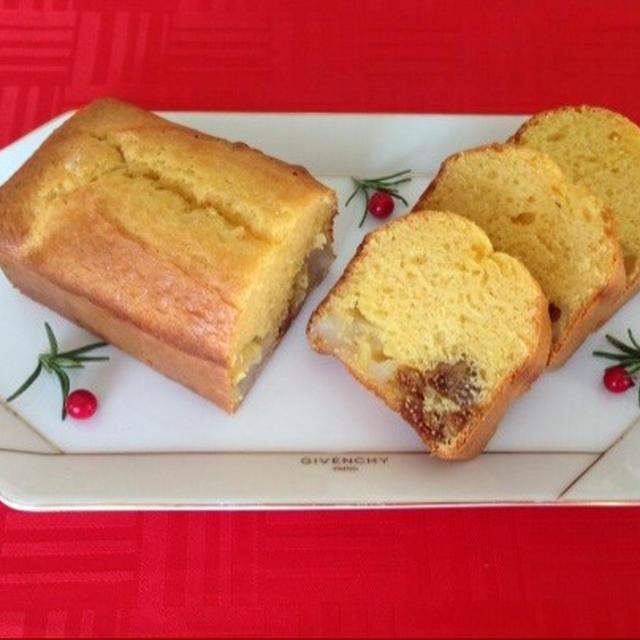 『お餅と無花果(いちじく)のパウンドケーキ』☆ ホットケーキミックスでお手軽に♪♪