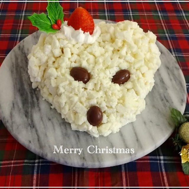 クリスマスに・・だいずくんのミモザケーキ☆