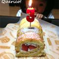 ふうわり苺のロールケーキ&3歳の誕生日 by quericoさん