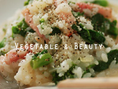 >【痩】 菜の花とベーコンの簡単リゾット by SHIHOさん