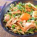 超主食系。簡単5分の柔らか豚オイマヨキムチサラダ(糖質3.5g) by ねこやましゅんさん