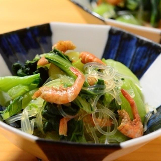 チンゲン菜と干しエビの中華風煮浸し