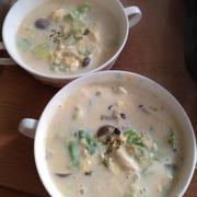 シメジとキャベツのあったか豆乳スープ