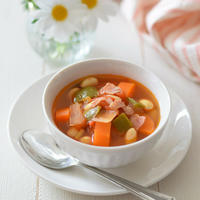 【岐阜CA】フレッシュトマトのミネストローネ♡岐阜県産『冬春トマト』で作るモーニングスープ♪