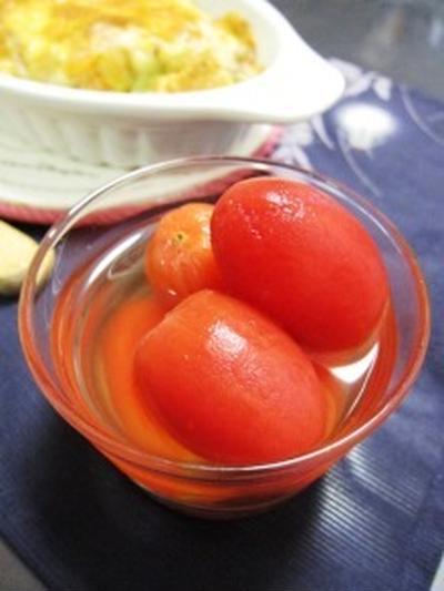 トマトのマリネ&積極的です!