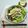 タコとゴーヤde初夏のサラダ冷し中華