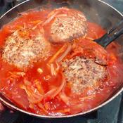いわしバークのトマト煮