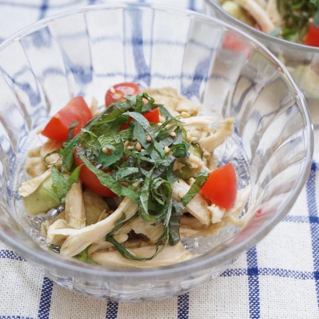ささみとアボカドのサッパリ大葉サラダ-簡単✻時短✻節約