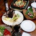 ◆伊勢海老のテルミドールにカルパッチョとサザエ刺身でおうちごはん♪