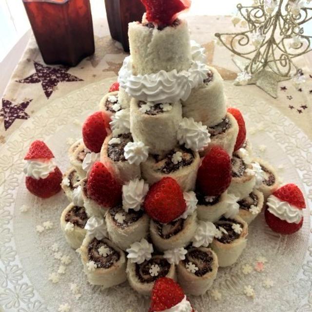 ヌテラと食パンで簡単楽しいクリスマスケーキ