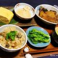 牡蠣ご飯とブリ大根と初☆菜の花