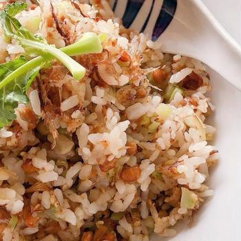 私の絶品♪納豆チャーハン🔶Fried Rice with Natto Beans🔶