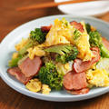 焼豚とブロッコリーの卵炒め、市販の焼豚で簡単レシピ