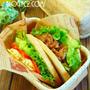 神戸屋円熟丸パンで♪ポケットサンド 焼き肉★チーズエッグ チコリスープ カフェ弁