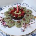 孫ちゃんの1歳の誕生日 ♪ミニタルト&青海苔の甘辛クッキー♪