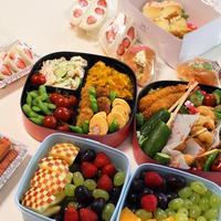 ピクニック弁当☆うちの定番かぼちゃサラダ☆泡スプレーでシュッとスッキリ!水筒&箸など