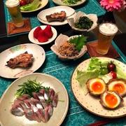 卵の牛肉巻きと新鮮魚メニュー