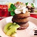 お砂糖なし粉なし【チョコ風パンケーキ】(動画レシピ)/Chocolate pancake made without flour.