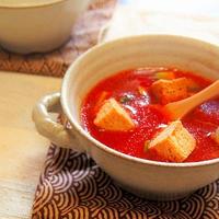 5分!野菜ジュースで簡単ガスパチョ  キリン無添加野菜48種の濃い野菜100%を使って♪