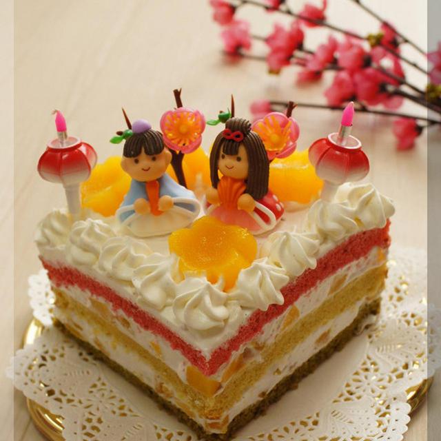 * 桃の節句 ❤ ひな祭りケーキ♬