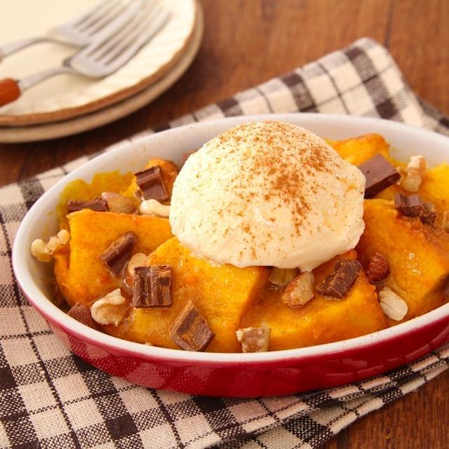 レンジで簡単!「かぼちゃのフレンチトースト」のレシピ  スッキリでご紹介しました。