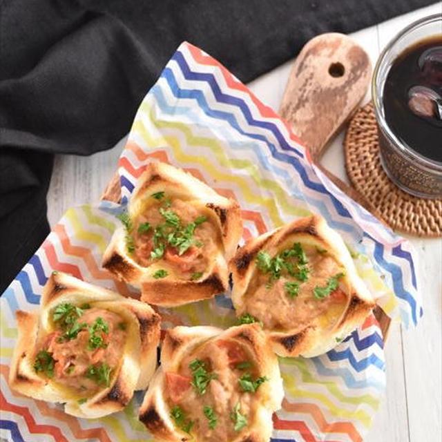 レシピブログでの連載更新しました♪トースターで簡単♪食パンで作る手間なし「パンキッシュ」
