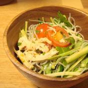 しそ梅の中華風春雨サラダ
