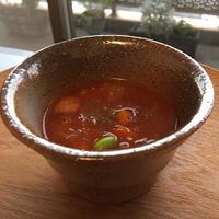ブラウンライスの甘みで簡単濃厚ミネストローネ☆レシピ