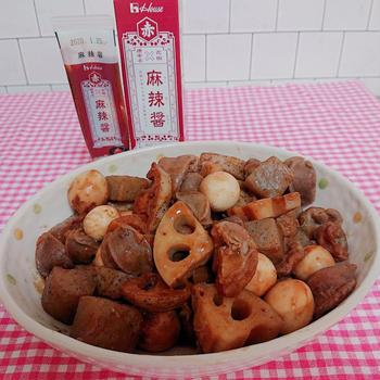 砂肝とこんやくとにんにくみそ炒め煮