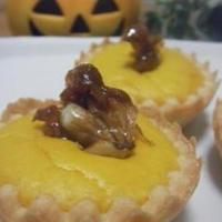 かぼちゃのチーズプチタルト☆パイ ~キャラメルくるみ乗せ♪~