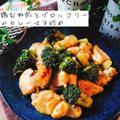 鶏むね肉とブロッコリーのカレーマヨ炒め