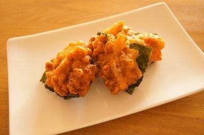 キムチ納豆天ぷら
