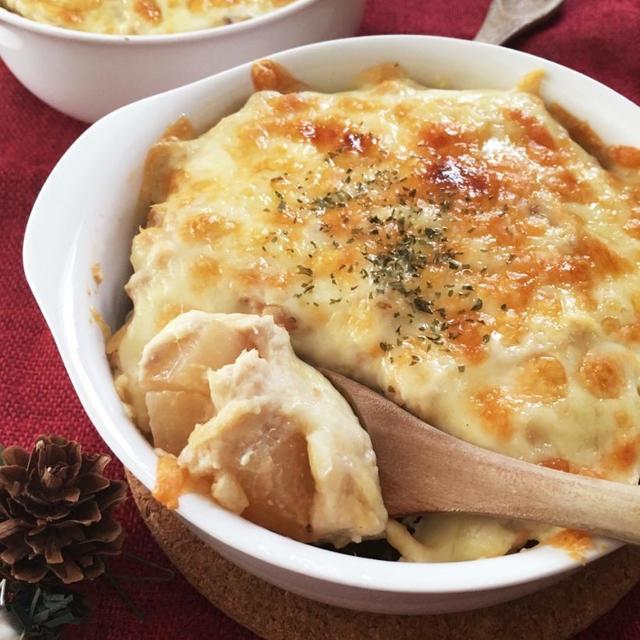 【節約レシピ】大根が決め手♪ツナと豆腐の和風グラタン(ヘルシー)
