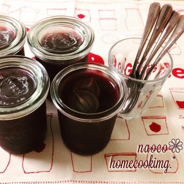 砂糖不使用☆葡萄ジュースとアガーで作る*冷んやり簡単ゼリー♪ to 久しぶりにスパイシー?