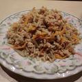 鶏挽肉とごぼうの味噌そぼろ 美味しい作り置きおかず
