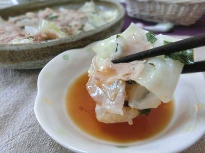 レンチン5分☆ かつお節と塩昆布でうま味たっぷり♪ 豚バラキャベツ蒸し
