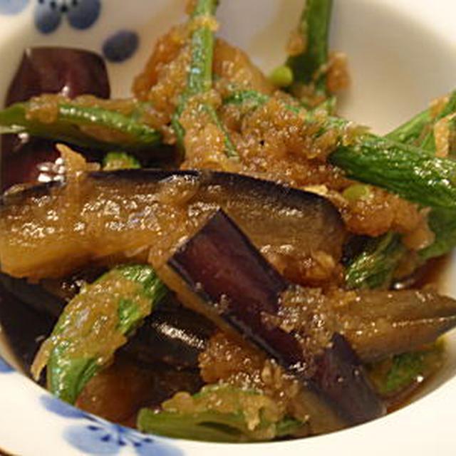 茄子といんげんの生姜煮(レシピ付)