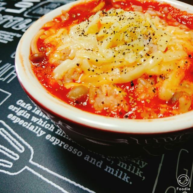 レンジで簡単スープご飯