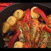 魚介類のサフラン煮込み